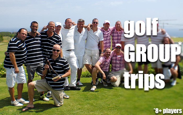 Get a quote for your group golf trip.