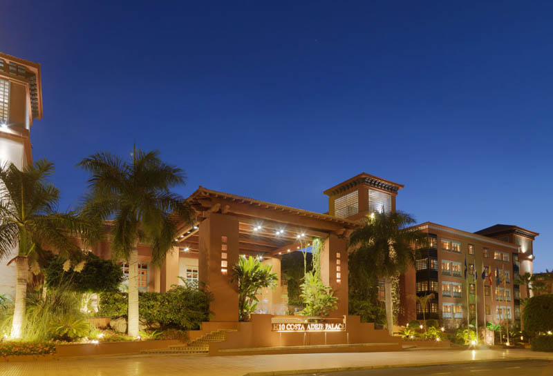 H10 Costa Adeje Palace Night view of the hotel
