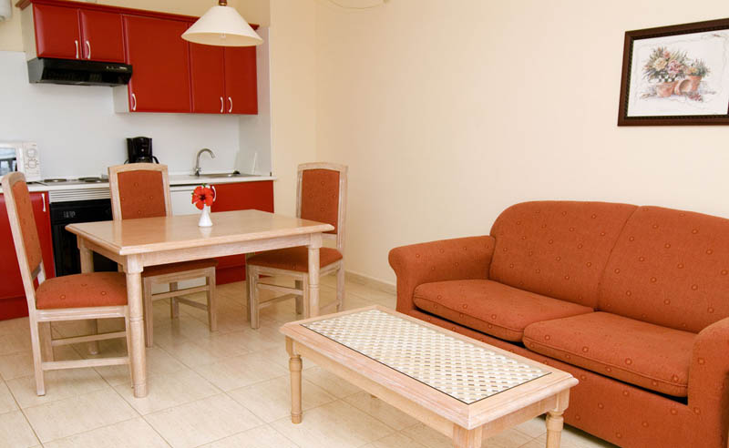 H10 Costa Salinas Apartment with lounge, bedroom, bathroom and kitchen